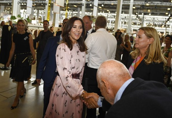 Crown Princess Mary of Denmark attended Future of Fashion design show held at Copenhagen CIFF Bella Center