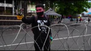 Pendemo Omnibus Law Ancam Wartawan Jember Pakai Palu