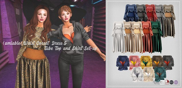 {amiable}Waist Corset Dress & Tube Top and Shirt Set-up@Tres Chic(50%OFF SALE).