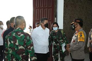 Kalemdiklat Polri Bersama Kapoldasu Cek Lokasi Latsitarda Nusantara dan Vaksinasi Massal