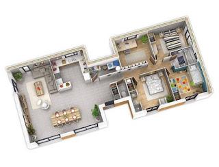 Gambar Denah Rumah Modern 2020