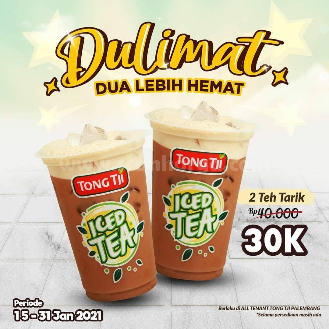 TONG TJI Promo DUALIMAT! Dua Lebih Hemat untuk Pembelian 2 Teh Tarik cuma 30K