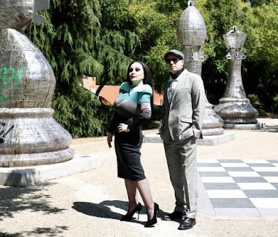 El dúo, en un parque de Madrid