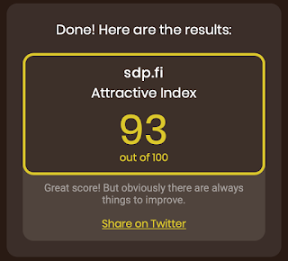 SDP got 93/100 with Poe's Attractive Index