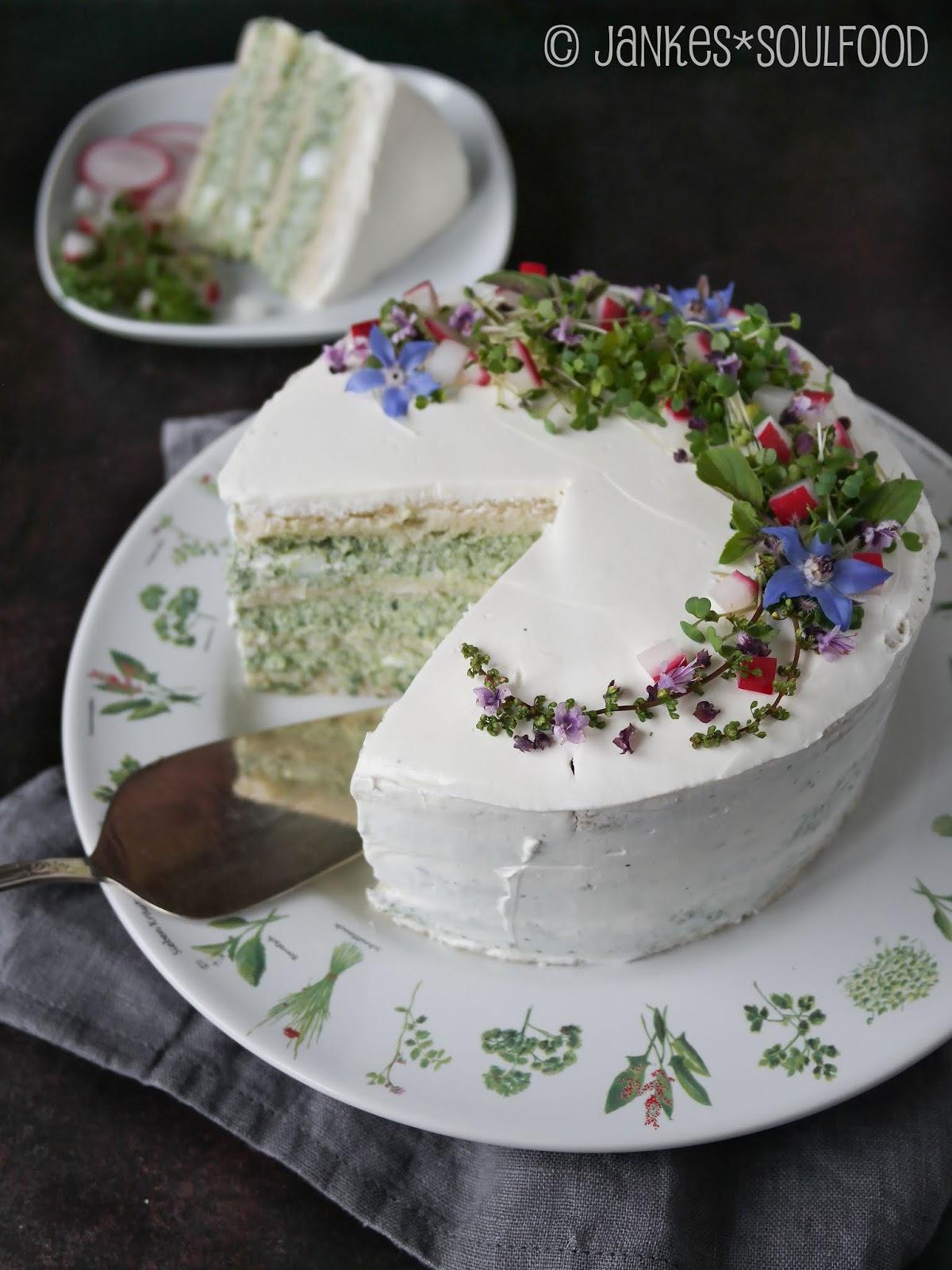 herzhafte Frischkäse-Kräuter-Torte