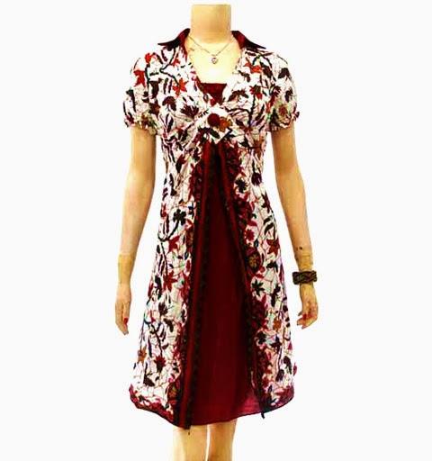 Model Baju Batik Wanita 2015: 100 Gambar Design Baju Batik Wanita Modern