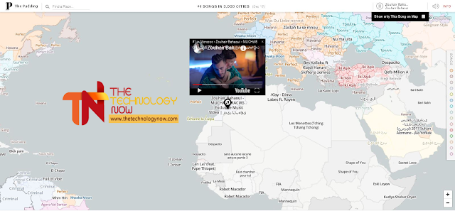 """توجد العديد من المواقع في الأنترنت تقدم خدمات  تساعد على تسهيل الأمور الصعبة من بين هذه المواقع موقع   The Pudding  الذي يوفر خدمة """"PRESENTS EMPIRE RECORDS"""" الذي يعرض لك أفضل الأغاني المستمعة   في أي منطقة من مناطق العالم ."""