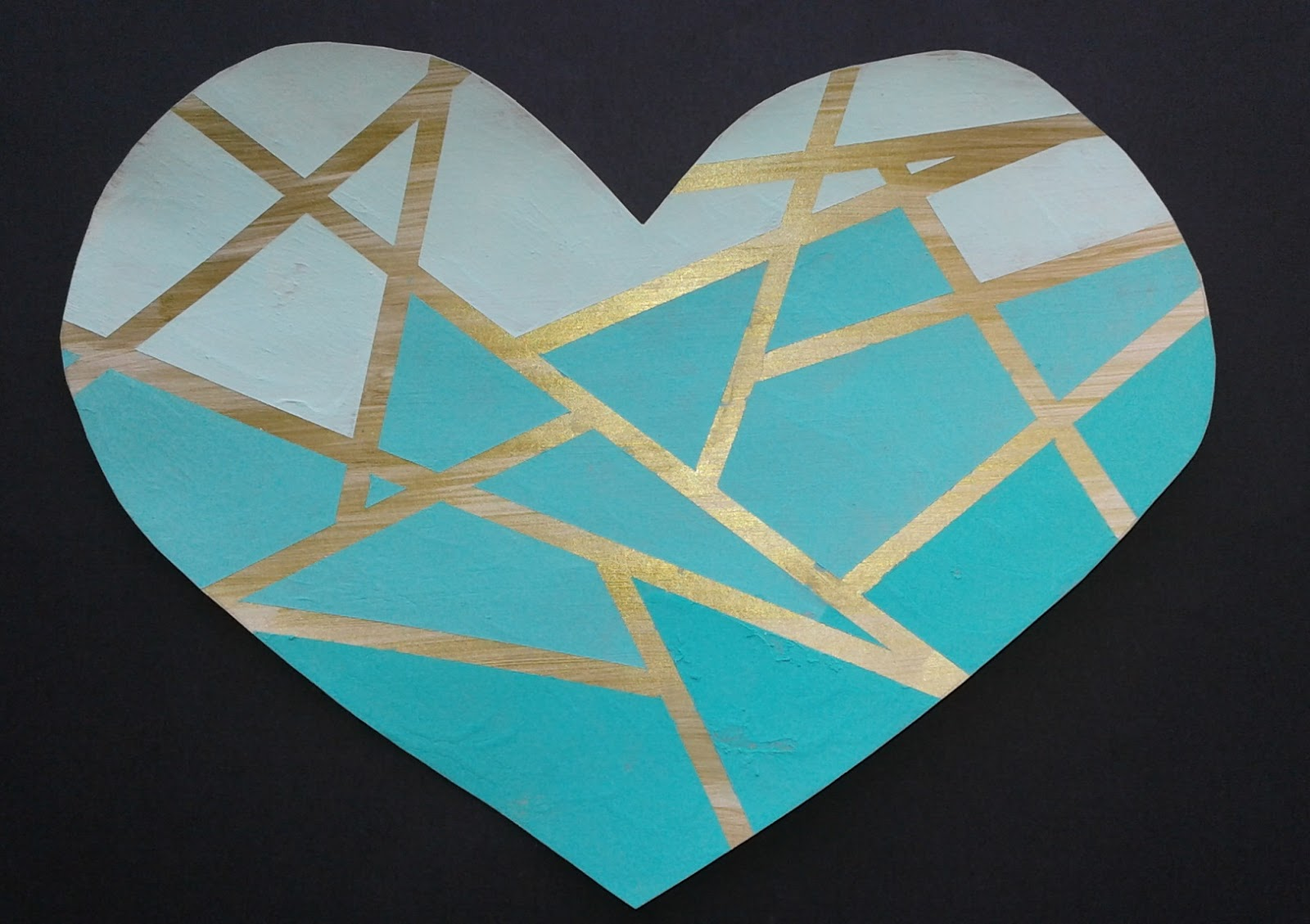 A Faithful Attempt Geometric Painted Hearts