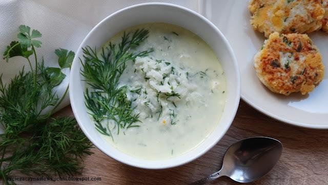 Zupa koperkowa z ryżem basmati