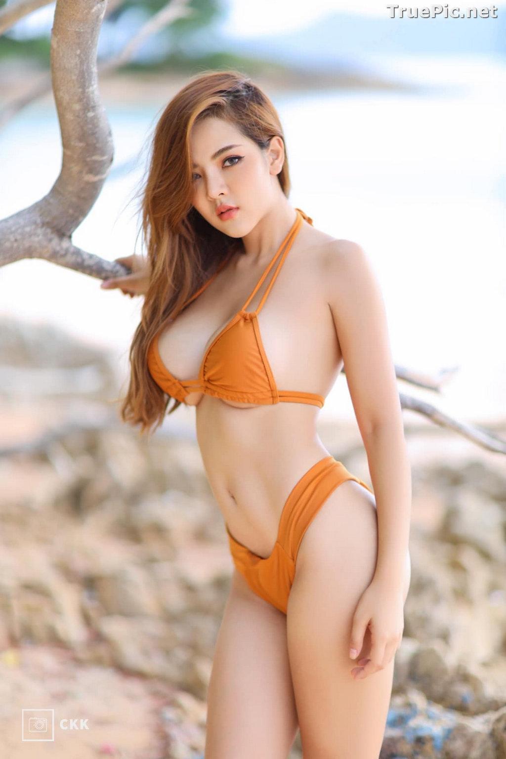 Image Thailand Model - Montakan Kaengraeng - Sexy Orange Bikini - TruePic.net - Picture-8