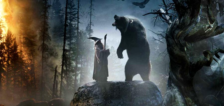 Beorn şi Gandalf în trilogia The Hobbit