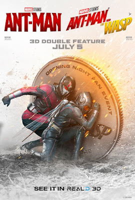 Marvel's Ant-Man and the Wasp RealD 3D Double Feature Theatrical One Sheet Movie Poster