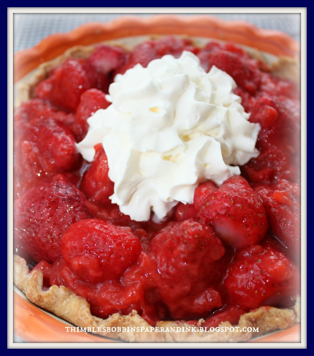 Thimbles, Bobbins, Paper And Ink: Fresh Strawberry Pie