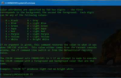 Cara Mengubah Warna Background dan Text di Command Prompt