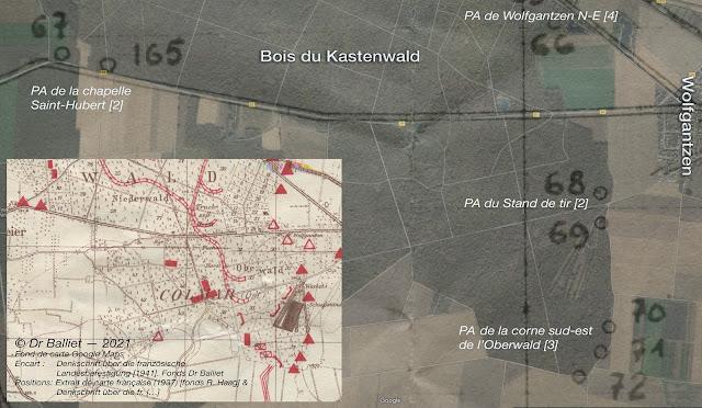 Ouvrages et coupoles MOM du Kastenwald