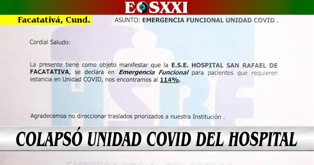 """Hospital solicita """"no direccionar traslados priorizados"""" por Covid-19"""
