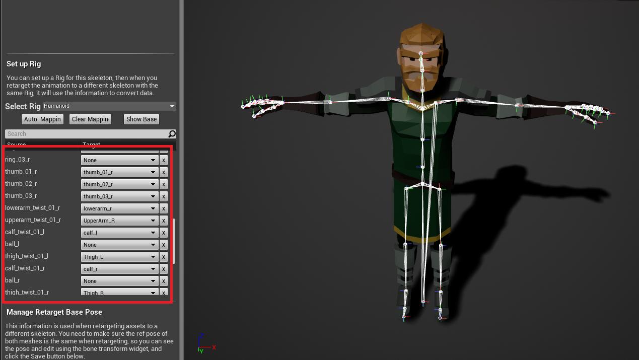 Animation Retargeting game engine bread: bone name based animation retargeting(c++