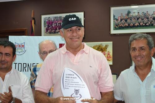 Marcelo Mentesana CAP 2017 de la Unión de Rugby de Salta