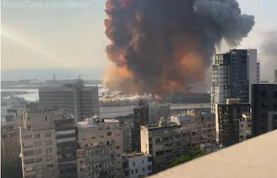 Η στιγμή της έκρηξης στην Βηρυτό σε αργή κίνηση (ΒΙΝΤΕΟ)