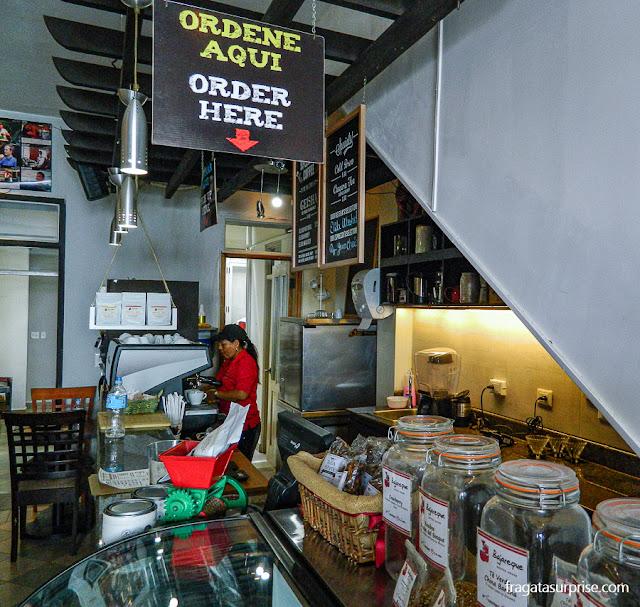 Café artesanal no Centro Histórico da Cidade do Panamá