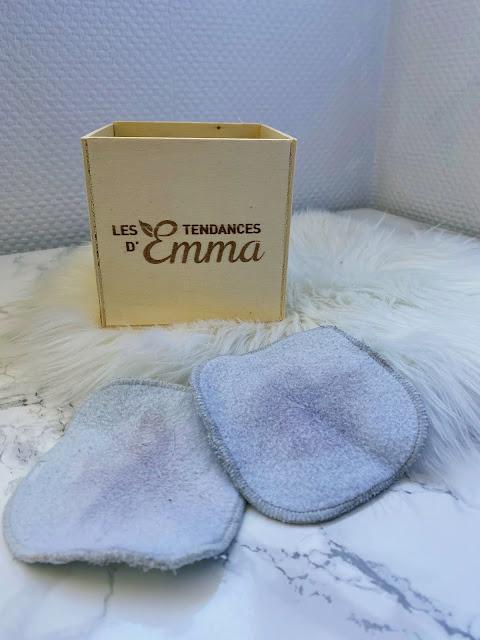 cotons carrés lavables démaquillant tendances d'Emma