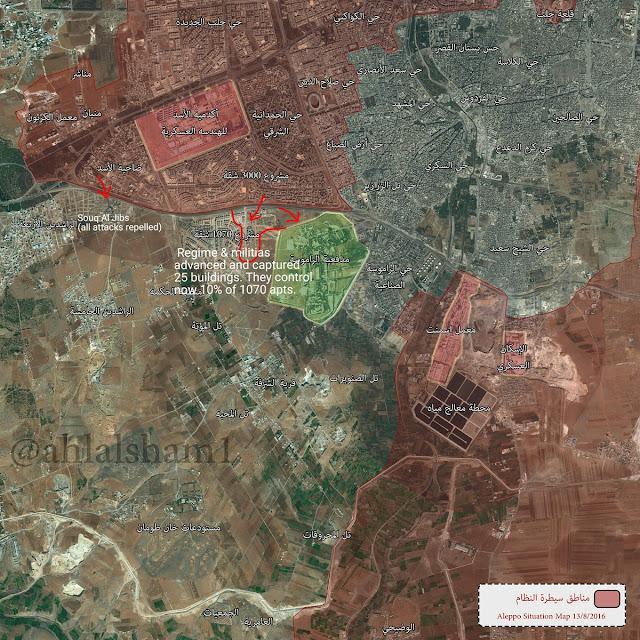 peta serangan assad di Aleppo