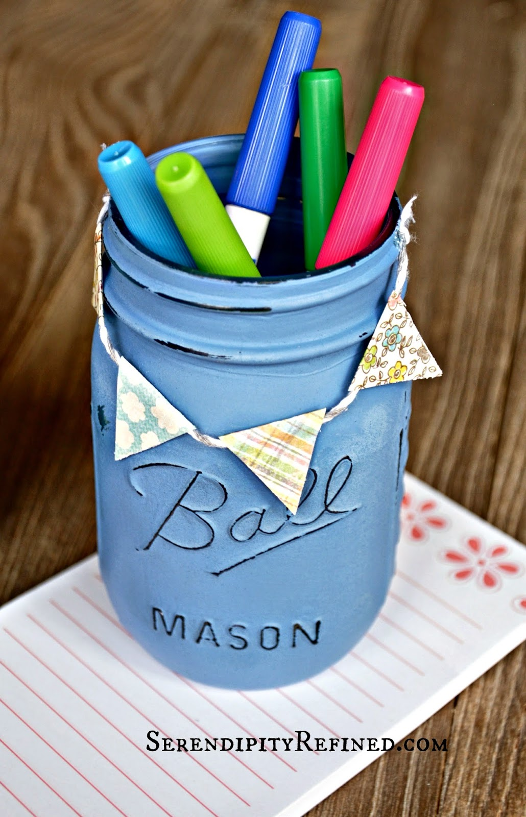 ... jar pencili holder with flag banner baker 27s twine diy jpg 1030 1600