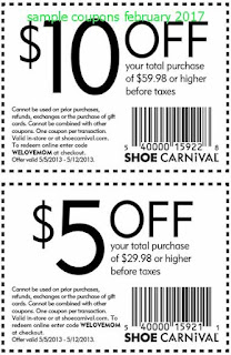free Shoe Carnival coupons for february 2017
