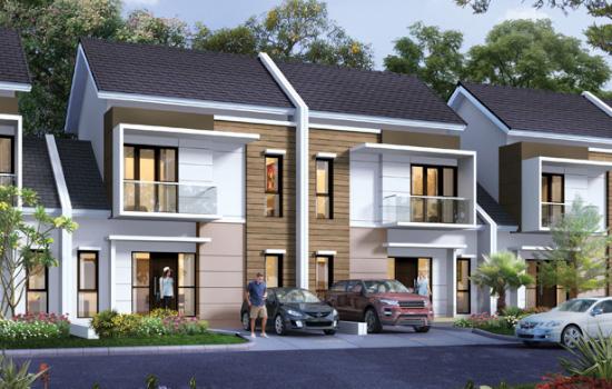 tampak depan rumah minimalis ukuran 8x13 meter 3 kamar tidur 2 lantai