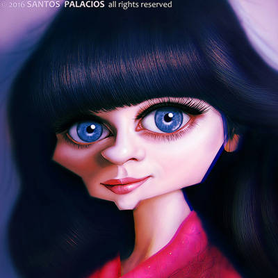 Series de Televisión, New Girl. Ojos azules. Flequillo. Bailarina, modelo