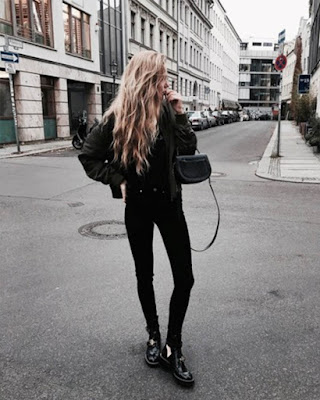 Outfit hipster negro femenino