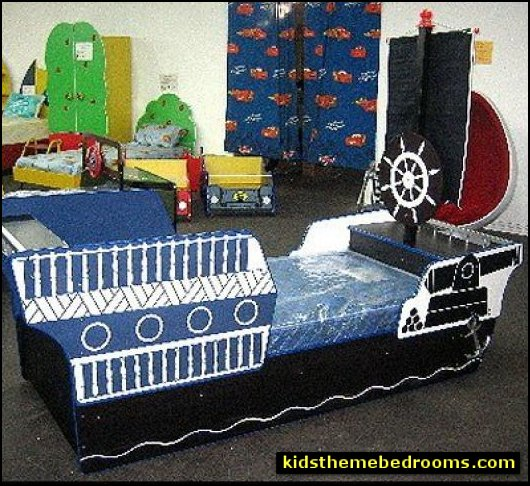 pirate ship bed boys pirate ship bed kids boat bed kids theme beds - childrens theme beds - themed beds - kids beds - themed toddler beds - unique furniture - castle loft beds - castle beds - animal beds - car beds - boat beds - train bed - airplane bed - batman bed - princess beds -  fantasy beds - playroom beds - boys beds - girls beds