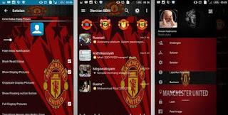 BBM Mod Tema Manchester United Apk