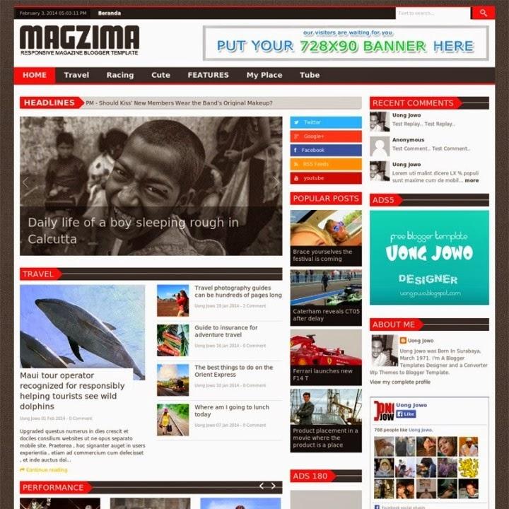 Blogger Template Magzima