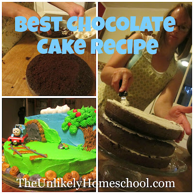 The Best Chocolate Cake Recipe From Pinterest (The Unlikely Homeschool)