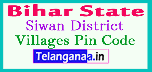 Siwan District Pin Codes in Bihar State