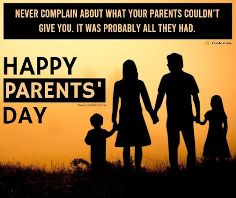 41+ [Best] Parents' Day 2021: Quotes, Sayings, Wishes, Greetings, Messages, Images, Picture, Poster, Wallpaper
