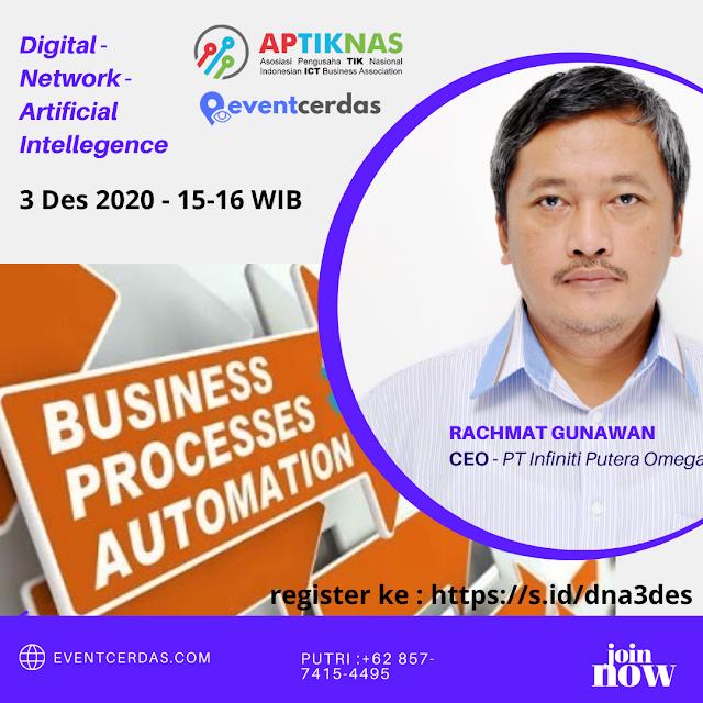 Dokumentasi webinar DNA DIGITAL - Business Process Automation - 3 Des 2020