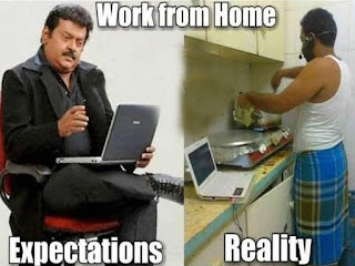 Work from home funny images