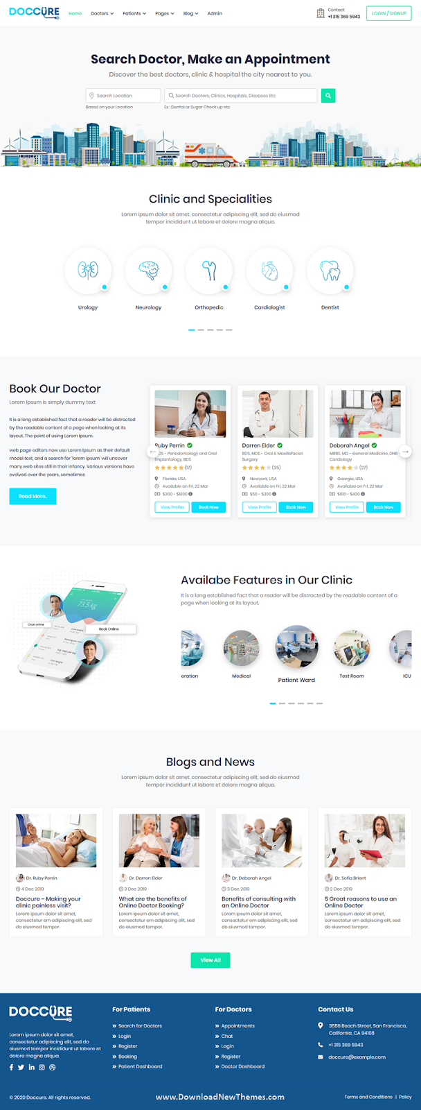 Best Doctor Appointment Booking System Bootstrap Template