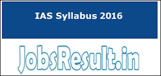 IAS Syllabus 2016