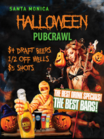 Halloween Bar Crawl Santa Monica Saturday Tickets