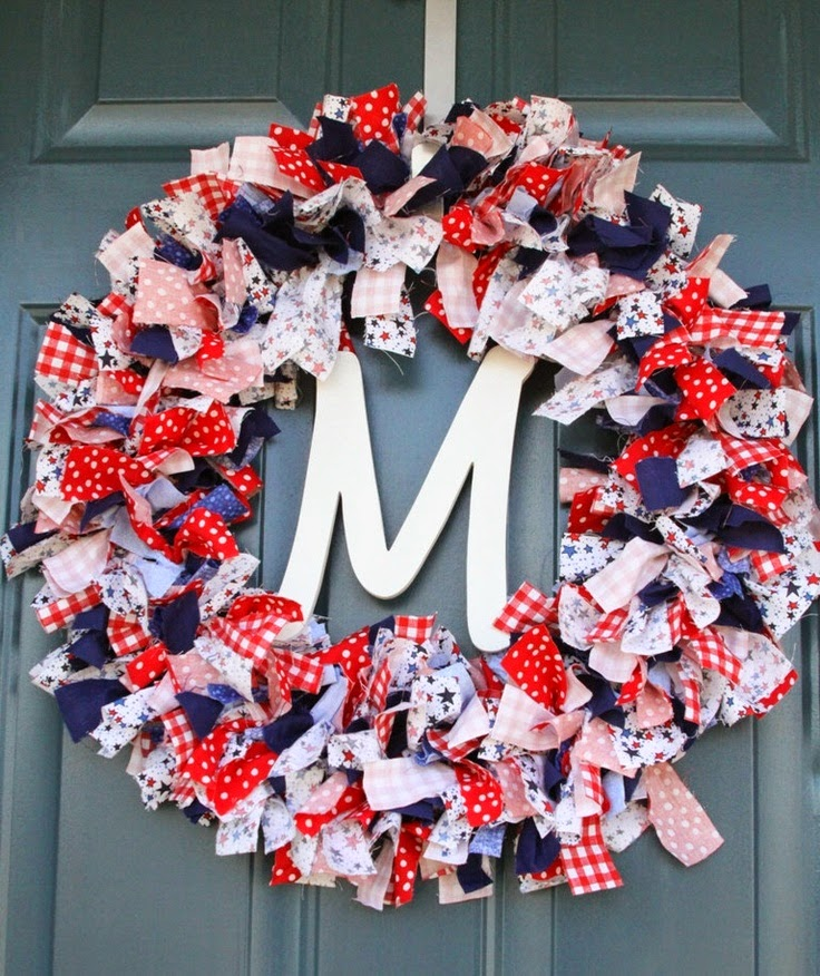 Fabriclovers Blog Remembering Memorial Day With Fabric Wreaths