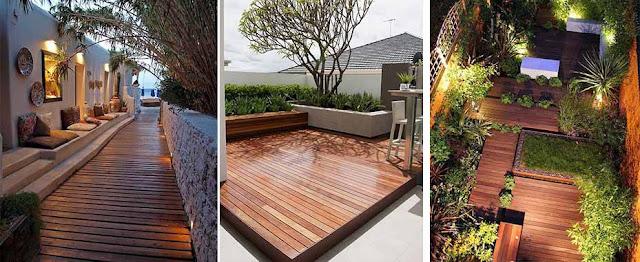 Selain di pasang di Lantai, Decking juga bisa di pasang di area ini :