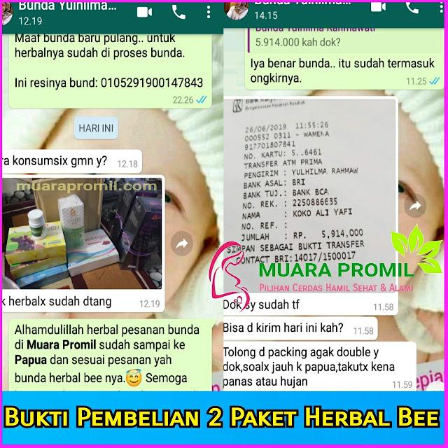 Bukti pembelian herbal bee ke papua