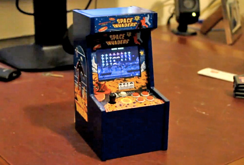 World S Smallest Space Invaders Arcade Game Damn Cool