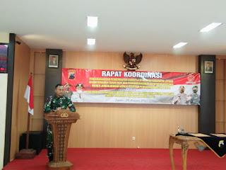 Dandim 0719/Jepara Hadiri Rakor Pengamanan Dan Pengendalian Karhutla Tahun 2020 Di Wilayah Kabupaten Jepara