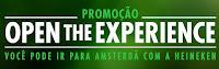 Promoção Open the Experience Heineken heinekenpromo.com.br