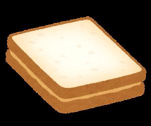 ピーナッツバターサンドのイラスト