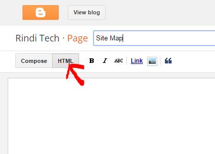 Cara memasang Site Map dengan cara yang paling mudah, simple dan tidak ribet pada blogspot format HTML